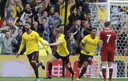 Liverpool chia điểm kịch tính trước Watford