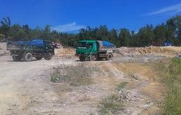 Lợi dụng việc chống sạt lở khai thác đất đá trái phép ở Đồng Nai