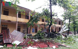 Lốc xoáy xuất hiện tại Quảng Trị