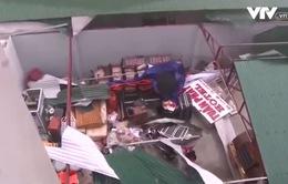 Hà Tĩnh: Gió giật, mưa lớn đang uy hiếp nhiều công trình
