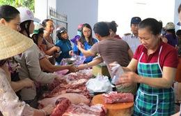 Trên 30 tấn thịt lợn của huyện Can Lộc (Hà Tĩnh) đã được thu mua
