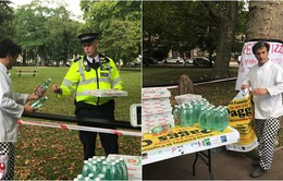 Tặng pizza miễn phí cho cảnh sát sau vụ nổ tàu điện ngầm ở London, Anh