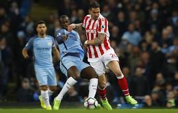 Vòng 28 Ngoại hạng Anh: Man City 0-0 Stoke City: Phung phí cơ hội
