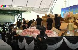 Myanmar và Thái Lan tiêu hủy số lượng lớn ma túy