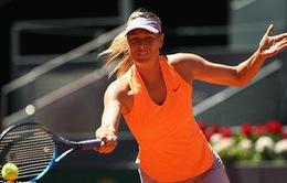 Vòng 1 Madrid mở rộng: Khởi đầu vất vả cho Sharapova