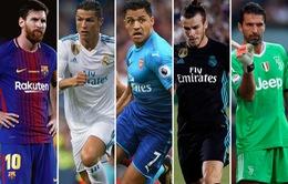 Ronaldo, Messi lọt đội hình 11 siêu sao nguy cơ phải xem World Cup 2018 qua TV