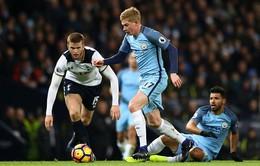 TRỰC TIẾP BÓNG ĐÁ Ngoại hạng Anh vòng 18, Man City - Tottenham: 0h30 ngày 17/12