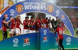 VIDEO Không khí náo nhiệt trong phòng thay đồ của Man Utd sau chức vô địch EFL Cup