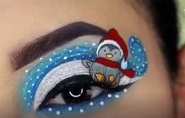Video trang điểm mắt độc đáo theo phong cách Giáng sinh gây bão trên Instagram