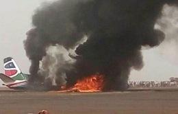 Rơi máy bay chở khách ở Nam Sudan, nhiều người bị thương
