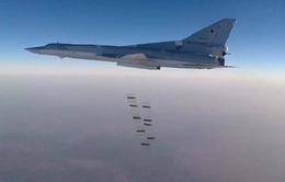 Máy bay Nga không kích liên tục mục tiêu IS tại Syria