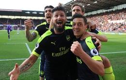 Kết quả bóng đá châu Âu đêm 13/5 rạng sáng 14/5: Man City 2-1 Leicester City, Stoke 1-4 Arsenal, Atalanta 1-1 AC Milan