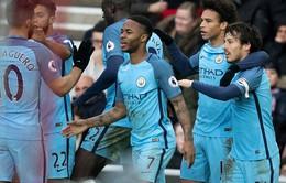 Vòng 27 Ngoại hạng Anh: Thắng nhẹ đội chót bảng, Man City trở lại top 3
