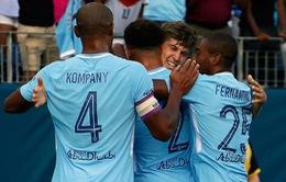 Manchester City giành thắng lợi dễ dàng trước Tottenham ở International Champions Cup