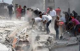 Công tác cứu hộ động đất ở Mexico gặp nhiều khó khăn