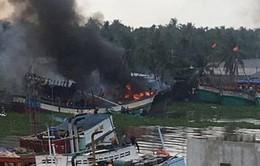 Kiên Giang: Cháy 2 tàu cá, thiệt hại hàng tỷ đồng