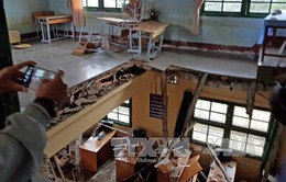 Sập sàn trường học tại Lâm Đồng, 10 học sinh nhập viện