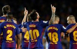 Messi lập kỷ lục ghi bàn ở derby xứ Catalunya