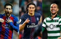 Messi và Cavani dẫn đầu tốp ghi bàn châu Âu