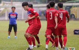 VIDEO: U22 Việt Nam tích cực tập luyện trước trận gặp U22 Philippines