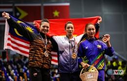 Hơn VĐV chủ nhà 0,01 điểm, Thúy Vi lần thứ 2 giành Vàng tại SEA Games 29