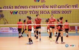 VTV Cup Tôn Hoa Sen 2017: ĐT bóng chuyền nữ Việt Nam tập buổi đầu tiên tại Hải Dương