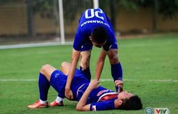 Chấn thương ảnh hưởng đến việc tập luyện của U22 Việt Nam