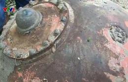 Phát hiện hai vật thể lạ nghi mìn tại Đồng Tháp