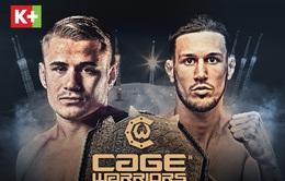 K+ phát sóng độc quyền giải võ tổng hợp MMA Cage Warriors