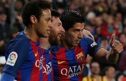 Tam tấu MSN tái hợp trong trận gặp Espanyol