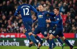 Vòng 22 giải Ngoại hạng Anh: Rooney phá kỷ lục, M.U gỡ hòa phút bù giờ