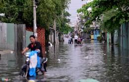Giao thông tại TP.HCM bị gián đoạn do mưa lớn