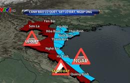 Cảnh báo mưa lớn, lũ quét, sạt lở đất ở nhiều địa phương