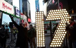 Mỹ: Quảng trường Thời đại sẵn sàng chào đón năm mới 2017