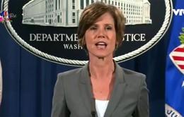 Tổng thống Mỹ sa thải quyền Bộ trưởng Bộ Tư pháp