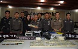 Bắt giữ 1,26 triệu tiền USD giả tại Thái Lan