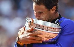 """Chung kết Pháp mở rộng 2017: Thắng áp đảo Wawrinka, Nadal khẳng định vị thế """"vua sân đất nện"""""""