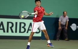 Davis Cup: Hoàng Nam giúp ĐT Việt Nam cân bẳng tỉ số với ĐT Hong Kong (Trung Quốc)