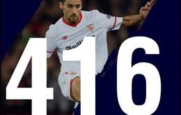 Jesus Navas đi thật xa rồi trở về lập kỷ lục ở Sevilla