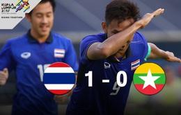 VIDEO SEA Games 29: Thắng nghẹt thở U22 Myanmar, U22 Thái Lan vào chung kết bóng đá nam