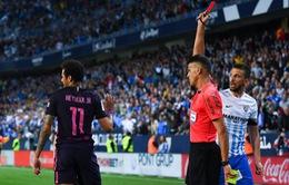 Nhạo báng trọng tài, Neymar lỡ dở El Clasico