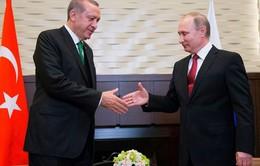 Tổng thống Nga Putin hội đàm với người đồng cấp Thổ Nhĩ Kỳ