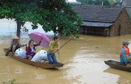 Nhiều khu vực ở miền Trung ngập trong nước lũ
