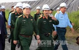 Đại tướng Ngô Xuân Lịch kiểm tra công trình xử lý chất độc dioxin tại Đà Nẵng