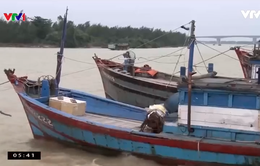 Cửa biển bồi lấp, tàu liên tục nằm bờ, ngư dân Quảng Nam gặp khó