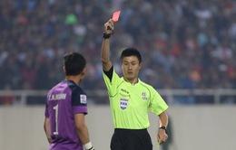 Thủ thành Nguyên Mạnh bị LĐBĐ châu Á phạt nguội 1000 USD, treo giò 2 trận