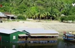 Quảng Ngãi: Ồ ạt xây nhà hàng nổi tại cầu cảng cá Trà Bồng