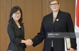 Nhật Bản và Australia tăng cường hợp tác an ninh quốc phòng