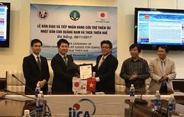 Lô hàng cứu trợ thiên tai sau bão số 12 từ Nhật Bản đã đến Đà Nẵng