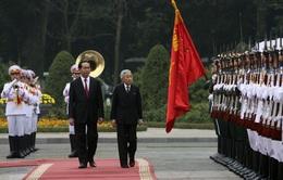 Chủ tịch nước chủ trì lễ đón chính thức Nhà vua và Hoàng hậu Nhật Bản